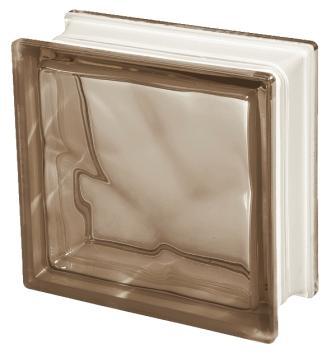 Pustak szklany luksfer 1919/8 Wave Brown E 60 Seves Basic