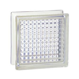 Luksfery pustak szklany 198 Clear Cross Reeded E 60 EI 15 La Rochere